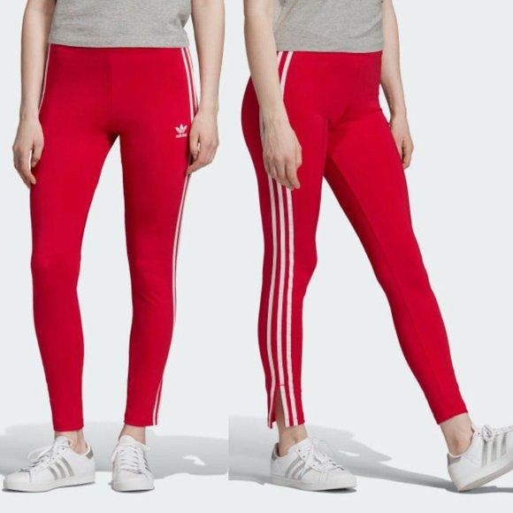 adidas Pants - Adidas Original Shiny 3 Stripe Leggings